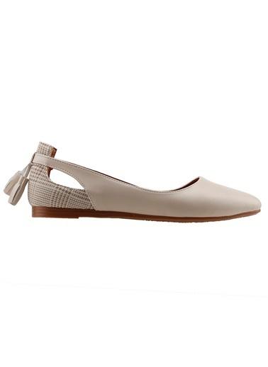 Ayakland Ayakland 1920-204 Günlük Fiyonklu Sandalet Bayan Cilt Babet Ayakkabı Ten